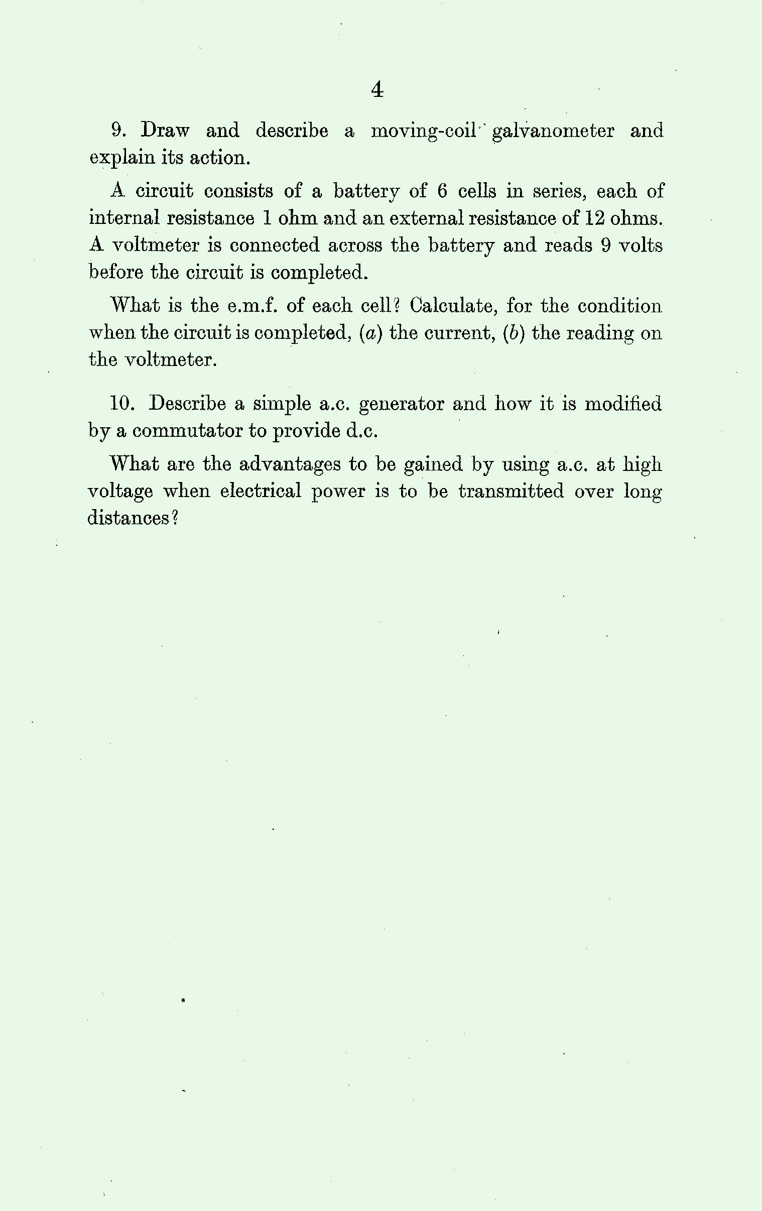 1959 Physics exam page 4