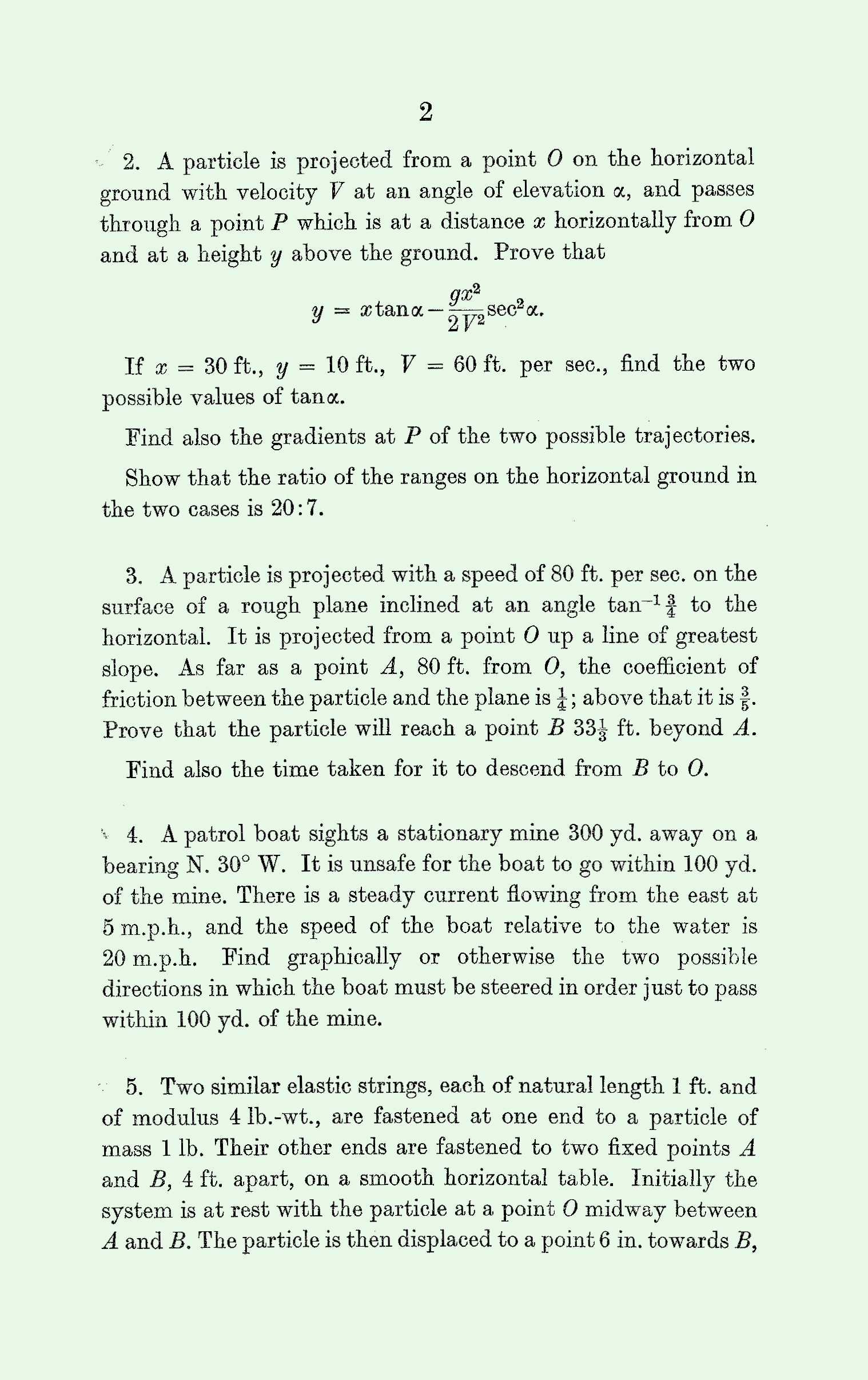 1963 Applied Mathematics A Level & S Level Paper I page 2