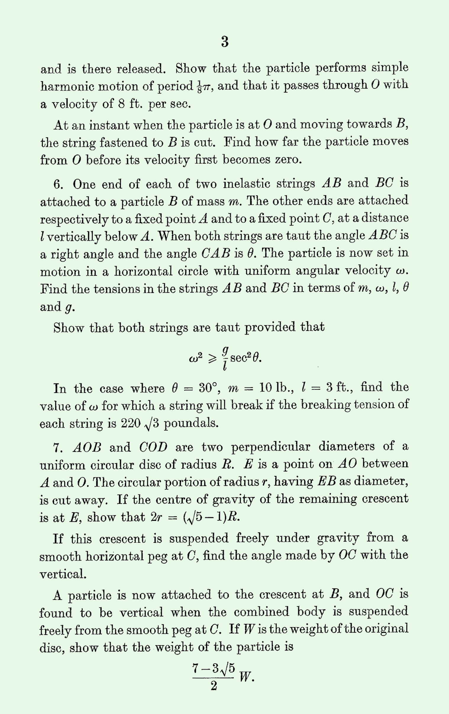 1963 Applied Mathematics A Level & S Level Paper I page 3