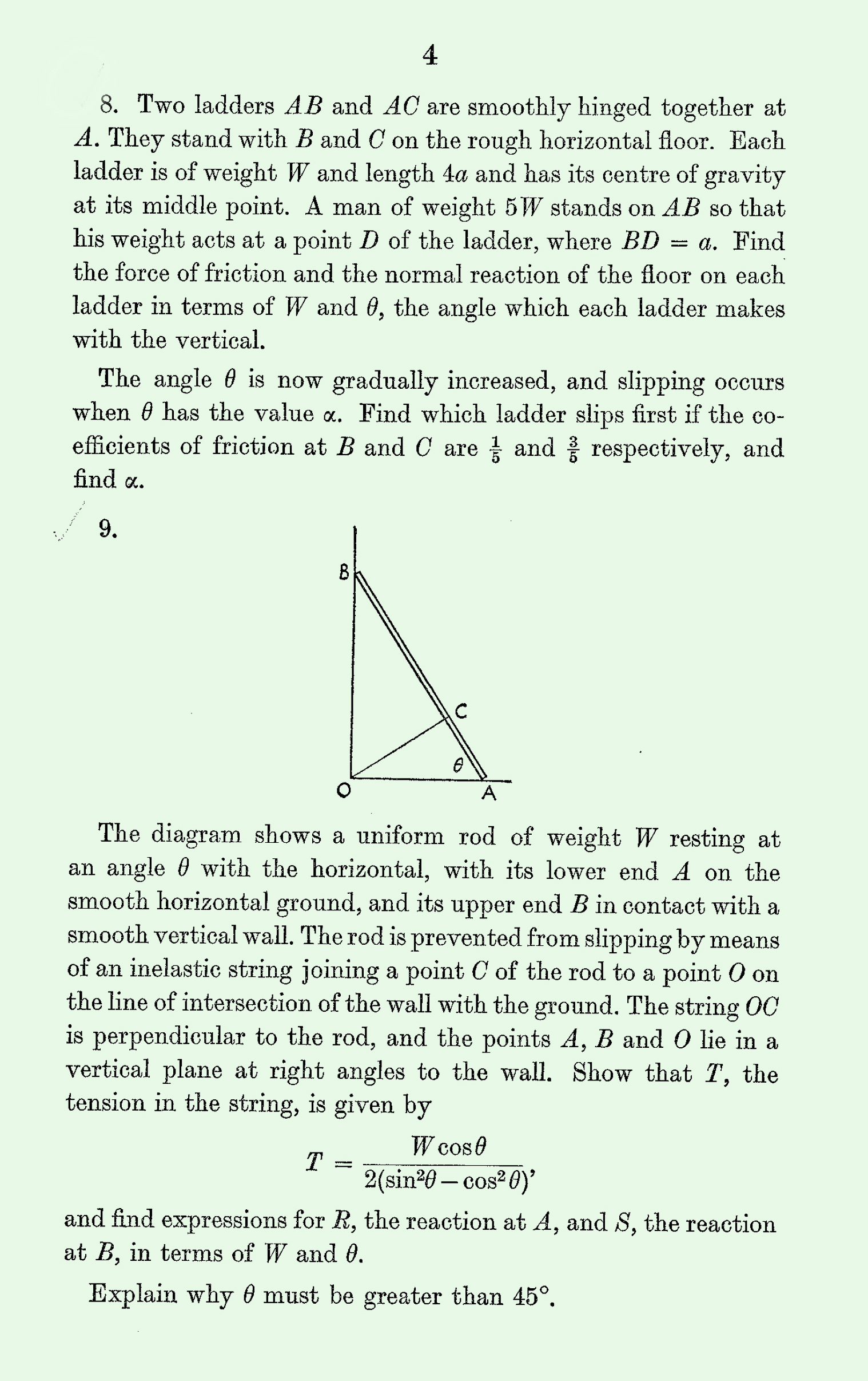1963 Applied Mathematics A Level & S Level Paper I page 4
