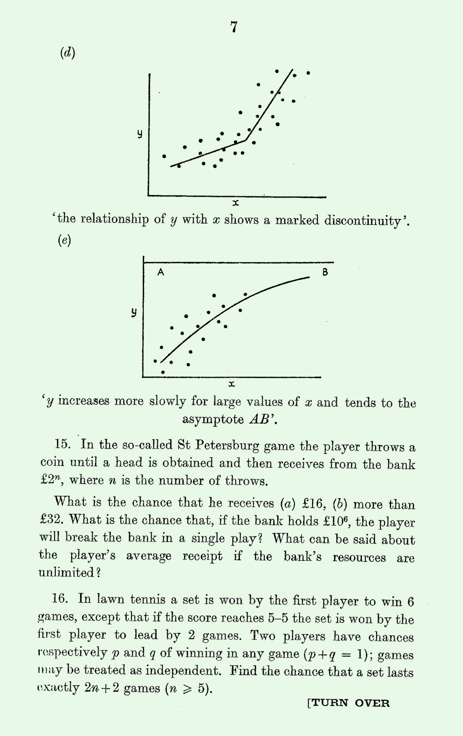 1963 Applied Mathematics A Level & S Level Paper I page 7