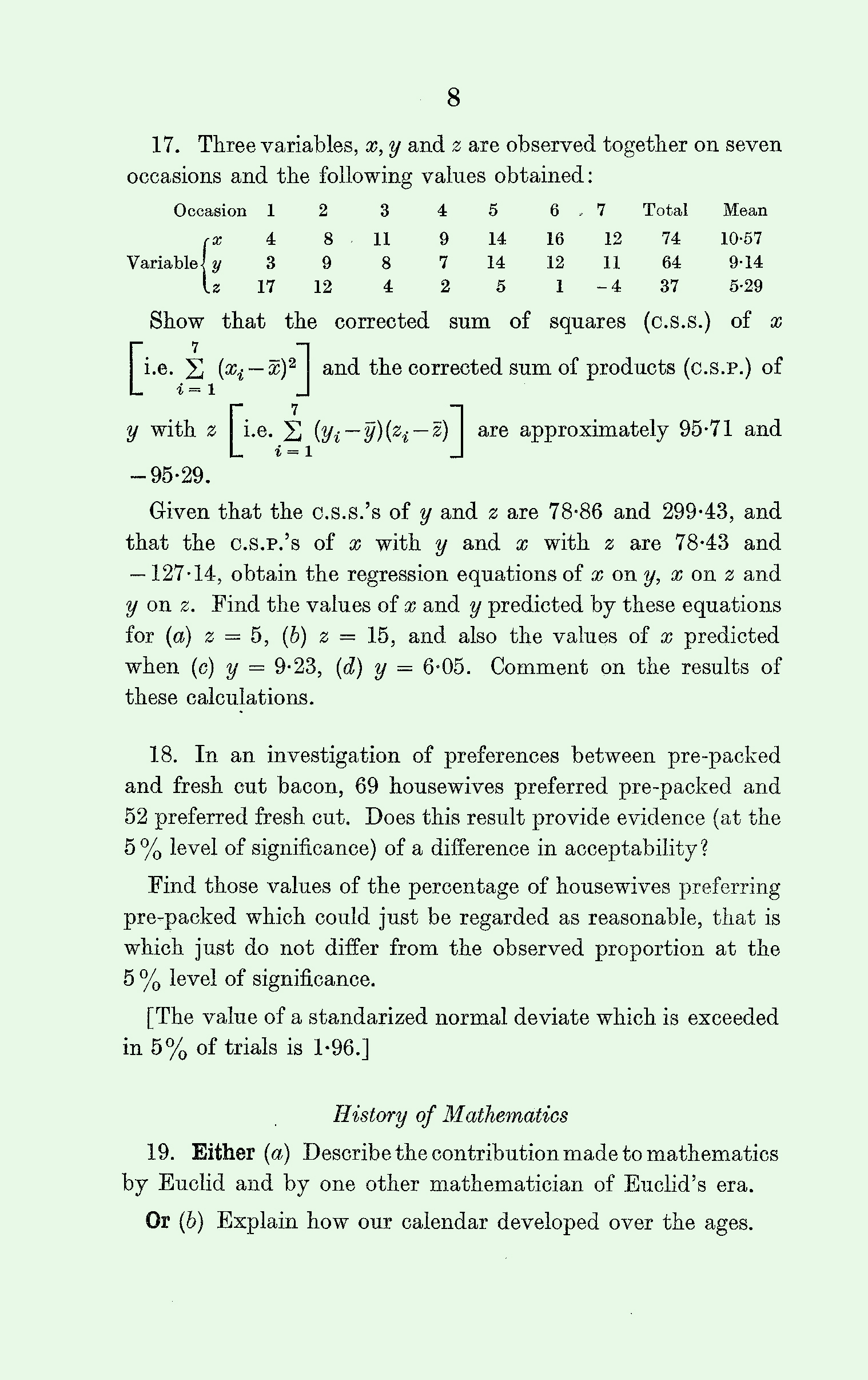 1963 Applied Mathematics A Level & S Level Paper I page 8