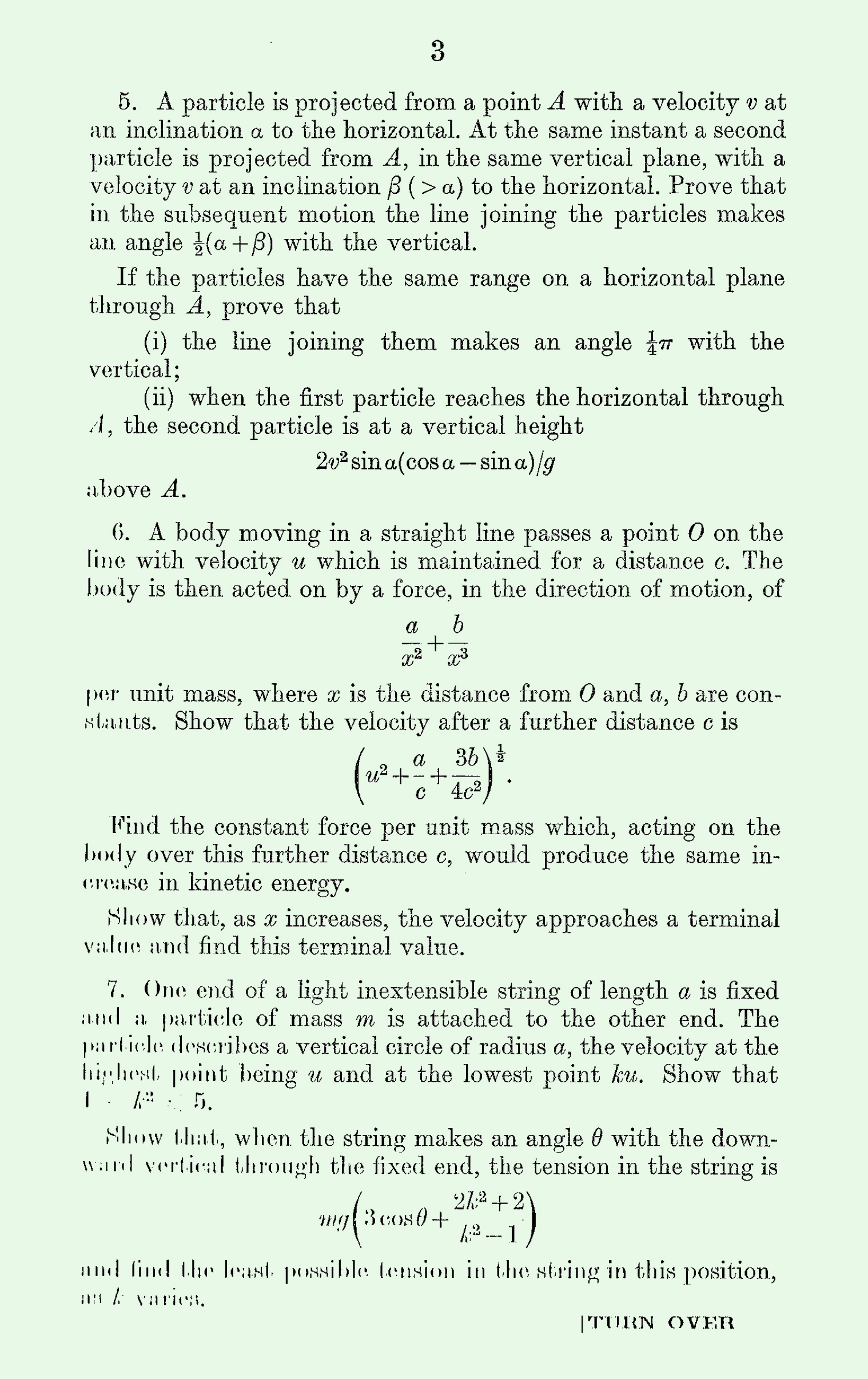 1963 Applied Mathematics A Level & S Level Paper II page 3
