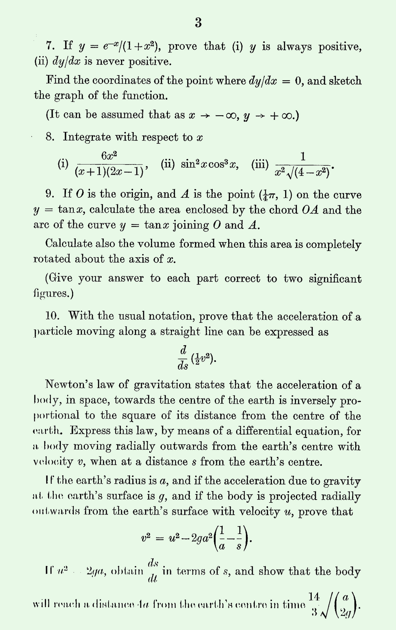 1963 Pure Mathematics A Level & S Level Paper II page 3
