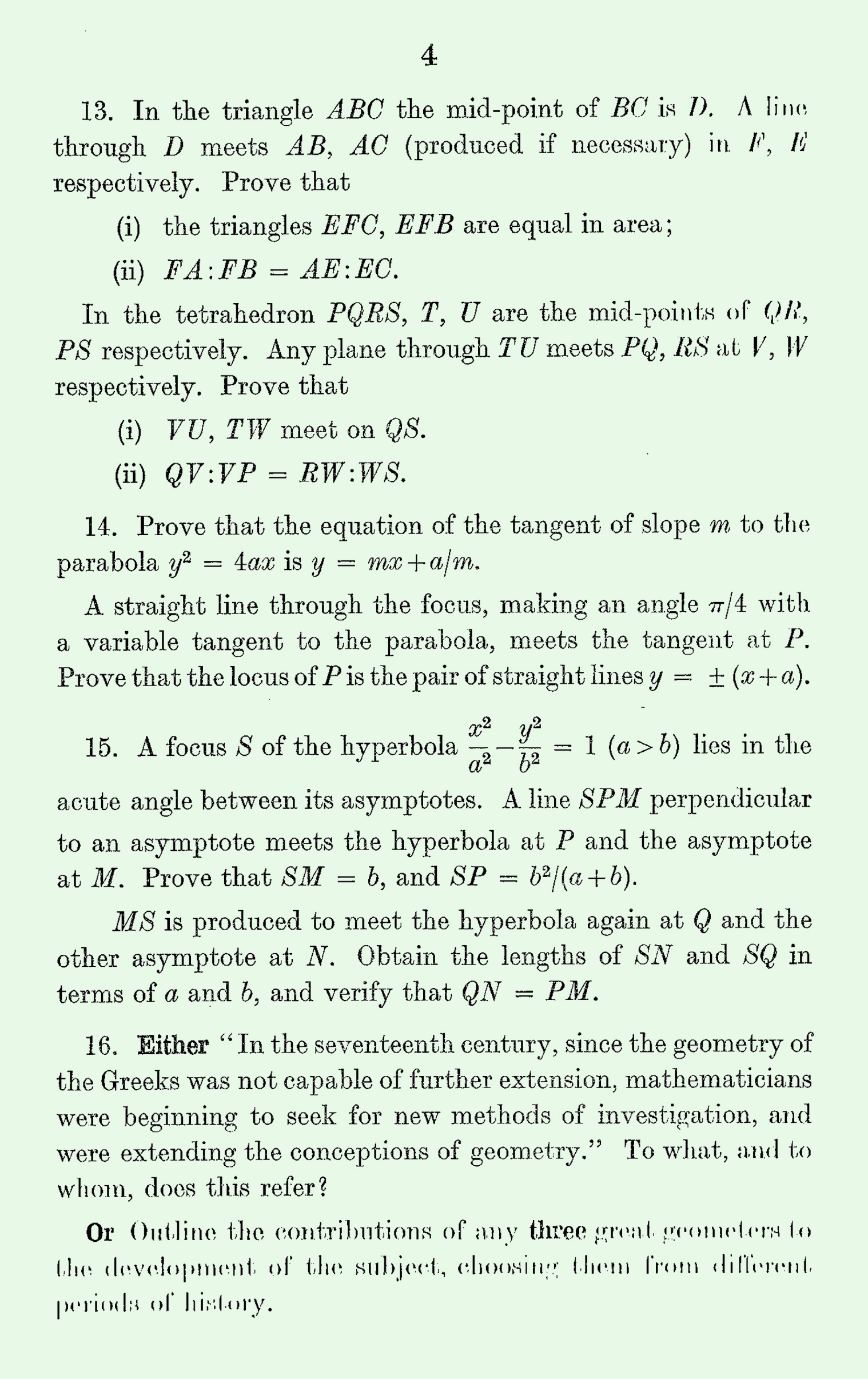 1963 Pure Mathematics A Level & S Level Paper III page 4